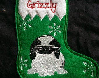 Rabbit Stocking (All Breeds) -Personalized