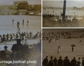 Vintage Snapshot College Football Game. Circa 1910. DePauw and Wabash Indiana Connection.  3 x 5 inch Silver Gelatin Photo. Sports History