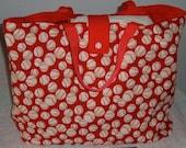 Baseball Tote Bag in Navy, Khaki or Red  Reversible Sport Purse