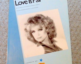 Barbara Mandrell/Love is Fair/vintage sheet music/1981/piano/guitar/vocal/country ballad/country music/1980's music/MCA records/cover art