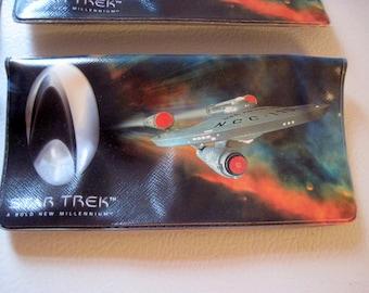 Star Trek checkbook covers checkbook register Enterprise Star ship Space Star Trek Millennium collectors edition Captain Kirk Picard science