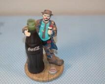 Coca Cola Figurine Emmett Kelly Fugurine , 1995 Limited Edition Coca Cola Emmett Kelly Numbered , Big Big Taste