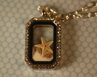 Sea Life Charm Necklace , Beach Necklace , Starfish Necklace
