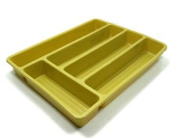Cutlery Tray Vintage Gold Drawer Organizer