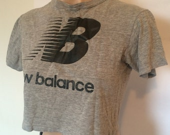 New Balance grey crop top 90s small