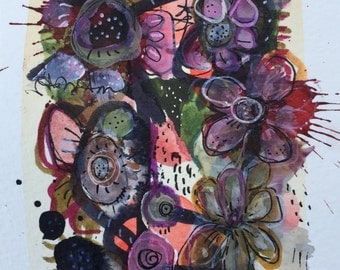 Original Expressionist Art Painting Fine art abstract Floral