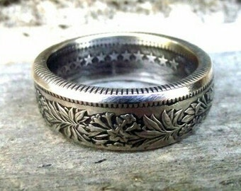 RESERVED/SOLD - Coin Ring - Silver Swiss 2 Franc Coin Ring - Size: 8 1/2