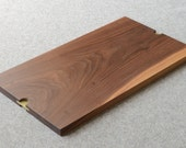 Walnut Serving Tray with inset solid brass grabs size large