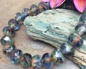 Reflections 6x8mm Rondells, 25 pc Czech Glass Beads from Dream Girl Beads