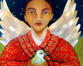 Peace Angel (Original painting SOLD) - print available
