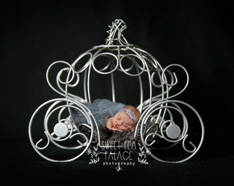 Instant Download Photography Prop Princess Carriage DIGITAL BACKDROP for Photographers