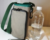 Water bottle carrier- tan canvas