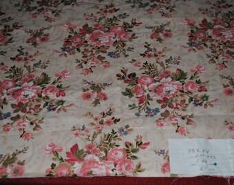 Floral 100% Cotton Remnant