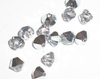 Swarovski crystal bicone style 5328 crystal beads Comet Argent Light -- Available in 3mm, 4mm and 6mm