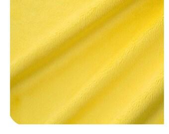Shannon Fabrics Canary Solid Minky Yellow