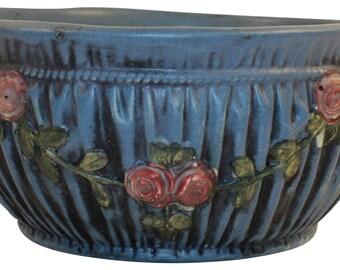 Weller Pottery Blue Drapery Bowl