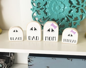 Personalized Ghost Adult- Ghost Family, Personalized Ghost, Halloween Decor, Halloween Family, Ghost Decor, Halloween Blocks,