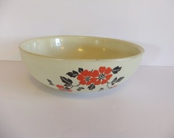 "Vintage Bowl - Hall's Bowl - Kitchenware - Made in USA - 9"" bowl"