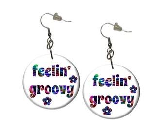 Feelin' Groovy Earrings Boho Rainbow Earrings Feelin' Groovy Rainbow Dangle Earrings
