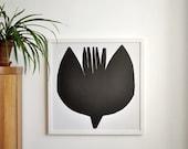 2in1 Poster print: FLOWERBIRD (50 x 50 cm)