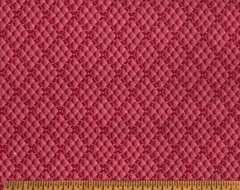 Joan Kessler for Concord Fabrics Cotton Cranberry Red Diagonal Colorway 1 Yard