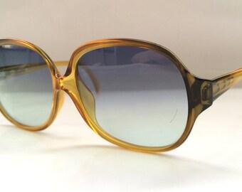 80s Vintage Austrian Viennaline Optyl Two-Tone Honey Brown Sunglasses