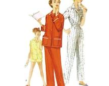 1950s Pajama Pattern Simplicity 1325 Teenage Size 16 B34