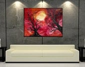 Large Abstract Painting, 30X40 Landscape, Acrylic on Canvas, Original Art, Home Decor, Wall Art, Exhilaration