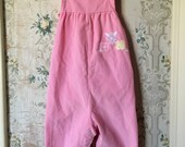 Pink Health-Tex overalls with flowers 24m
