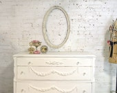 Painted Cottage Chic Shabby French Dresser DR857