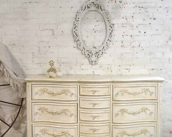 Painted Cottage Chic Shabby Romantic French Dresser DR873