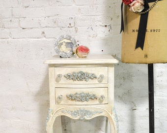 Painted Cottage Chic Shabby Romantic French Night Table