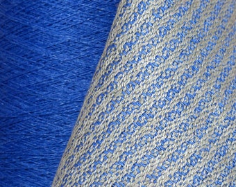 125 grams in 1 of 5 Lovely COOL TONE Colors (Cornflower Blue, New Leaf, Slate, Violet, OR Snow) 16/2 Linen Yarn 4.4 oz, 650 yards