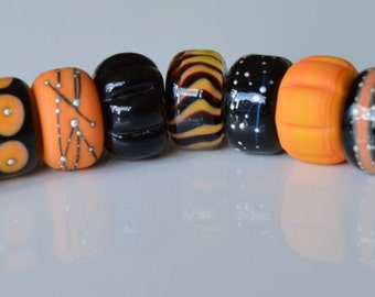 Halloween Collection No.4 - Handmade Lampwork Glass European Charm Bead - SRA - Fits all charm bracelets