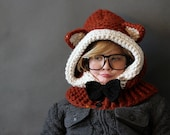 Crochet PATTERN Hooded Fox Cowl Crochet Hood Pattern Includes Sizes 1 Year to Adult