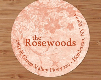 Rosewood  - Custom Address Labels or Stickers