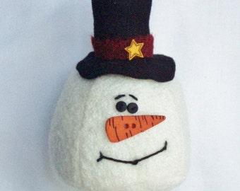 Primitive Snowman Ornament by Happy Valley Primitives BICOFG