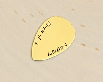 Brass Teardrop Guitar Pick for the Pluck of a Life Time - Jazz Style Guitar Pick - GP555
