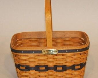Lovely Longaberger Collectors Miniature Market Basket--HARD FIND--Vintage  15% off all 40 dollar and under vintage listings