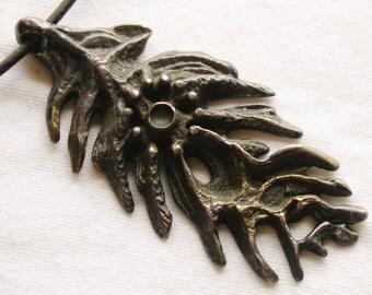 Sterling Silver Brutalist Pendant Necklace