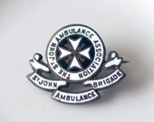 Order of St John Ambulance - Services Rendered Silver Enamel Medal 1939-45 - A Kent & Sons Silver Pin - Military Memorabilia