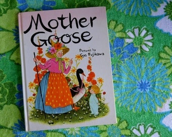 Vintage Mother Goose Book Illustrated by Gyo Fujikawa