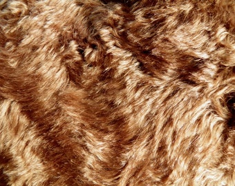 Schulte Mohair Distressed Swirly Medium Brown