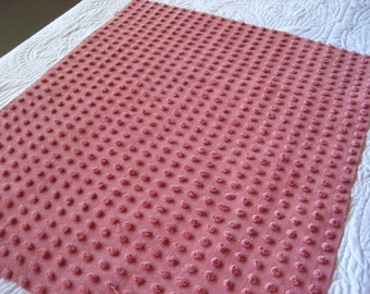 """Bates Red Wine Fluffy Pops Vintage Chenille Bedspread Fabric 20"""" x 24"""""""