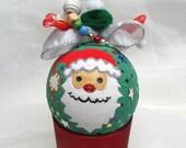 Santa Claus Ornament, Santa Bauble, Christmas Bauble, Christmas decoration, Christmas Ornament, Christmas Tree Ornament