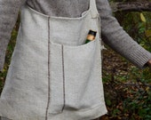 Handwoven burlap foraging bag for adults and urban explorers