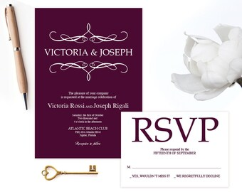 View MS WORD INVITE Template by VGInvites on Etsy