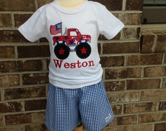 Baby Boys' July 4th Short Set,Boys Shorts, Independence Day Clothing,Boys  Summer Clothing