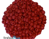 6/0 Apple Red Seed Beads - sold in one ounce packs - 480 beads to an ounce - approx 4.0mm diameter - Czech glass beads