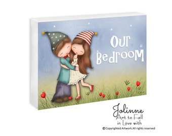 Personalized door sign, brother sister room sign, kids room art, children art, kids wall decor, Custom door sign, art for kids, door sign